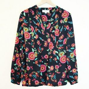 Jones New York Floral Tunic Blouse